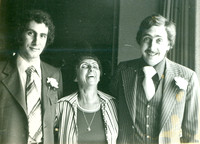 Howard's portrait of Roz Tafler with sons Lou and Sid
