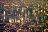 lower Manhattan and surroundings, closeup