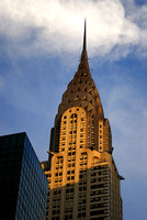 Chrysler Building, clouds over