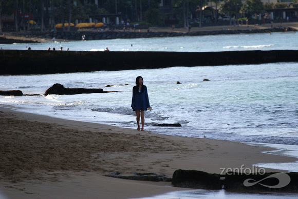girl on Waikiki Beach