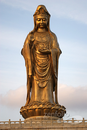 Guanyin, full front view