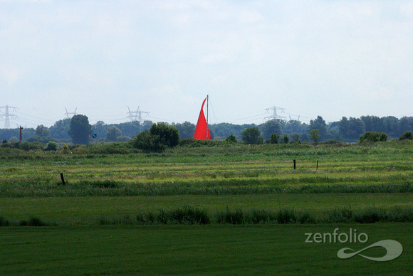 red sail green pasture