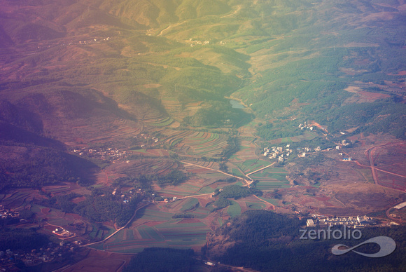 glide path into Kunming