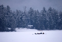 Ice Fishing, Schroon Lake, NY